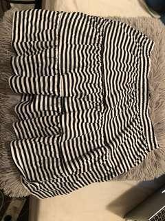 Mini stripe skirt