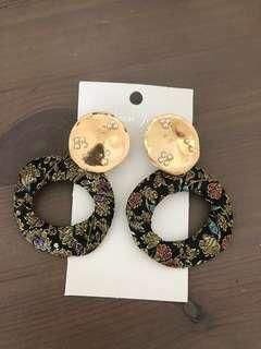 Gold Studded Chunky Earrings