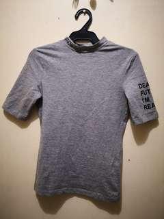Terranova Turtleneck Gray Statement Shirt