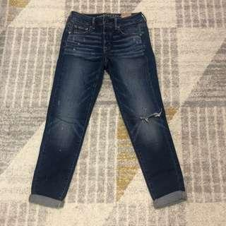 AEO boy jeans washed destroy denim 牛仔褲