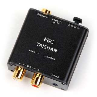🔊 🎧 FiiO D03K Taishan DAC - Coaxial/Optical to RCA R/L or Line Out - Digital Analog Audio Converter