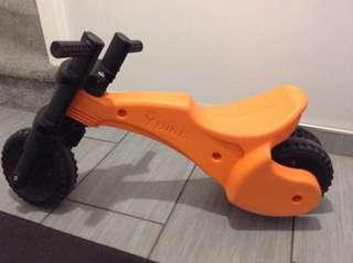 NEW Unused YBike Original Orange Balance Bike Ride On not ikea jd bug strider little tikes