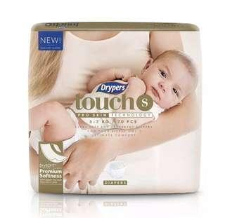 🚚 Deliver 4 @ $57 Drypers Touch S