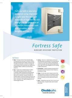 Chubbsafes Fortress Safe Box