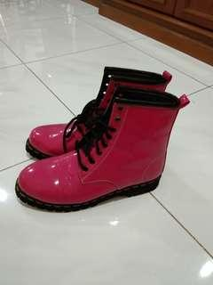 Platform Boots in Pink by Nokha.co