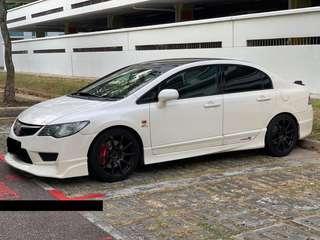 Honda civic type R white for rent