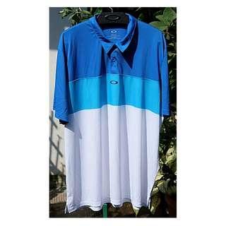 Original baju Oakley Polo Golf blue murah