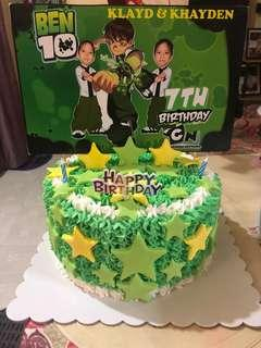 Ben10 bday cake w/free cupcakes