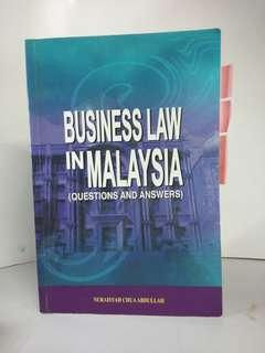 Law Book Business Law in Malaysia