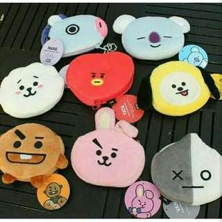 Unofficial BT21 Plush Coin Purse