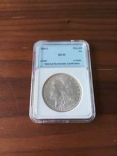 Morgan Dollar 1904-O MS-66