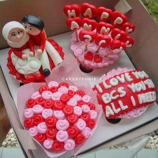 Cupcakes for Anniversary - isi 4 cup - TANGERANG