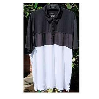 Original baju Oakley Polo Golf black white murah