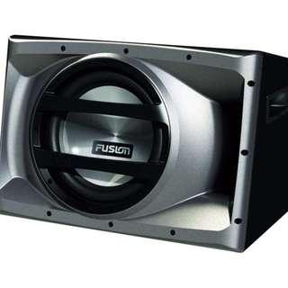 "FUSION CP-AW1121 12"" 1500 Watt Active Subwoofer - Brand New In Box"