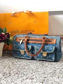 Louis Vuitton Denim Neo Speedy Blue