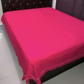 🚚 Pink Flat Bed Sheet Queen