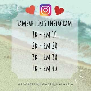 Tambah Likes Instagram