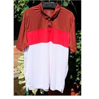 Original baju Oakley Polo Golf red white murah