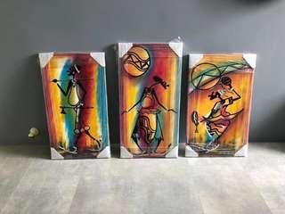 Canvas paintings from South Africa