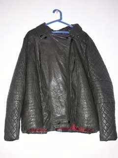 Plus Size Men's Leather Jacket