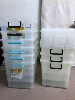 紅A透明膠箱半價發售 負重30kg $155/個 57(長)x41.8(闊)x41.8(高)cm #sellfaster