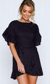 Ava Fashion Navy Wrap Dress