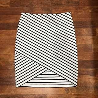 Irregular wrap skirt