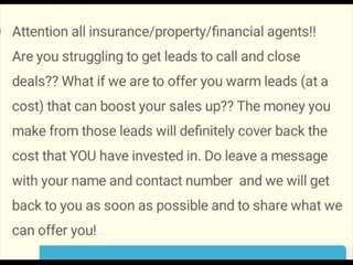 Financial/Insurance Agents! Very Good Leads!