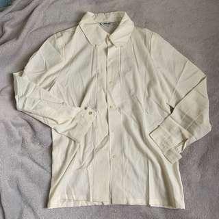 🚚 米白條紋襯衫 全新