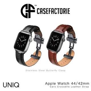 Uniq Caro Leather Strap Butterfly Clasp Apple Watch 4/3/2/1