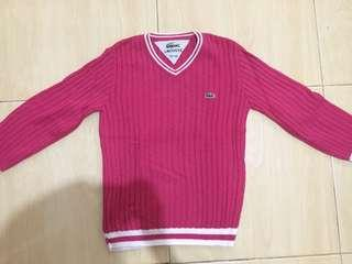LACOSTE : Pink Sweater