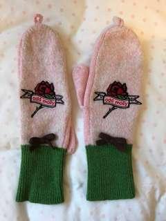 Odd Molly Wool Mitten with embroidery