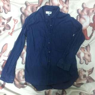 🚚 深藍色襯衫 boyfriend style