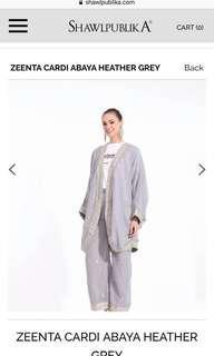 {RENT} ZEENTA Cardi Abaya in Grey