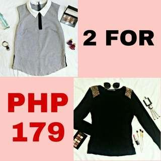 SALE! Collared Top and Fitted Longsleeves