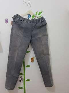 Jeans Pinggang Karet Bigsize 35-36