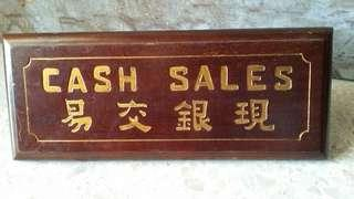 Teakwood old signage