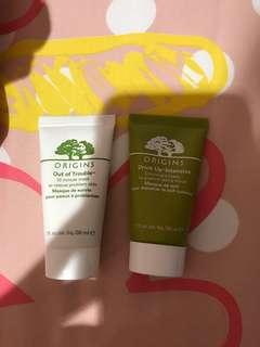 Take all 150k only!! CRAZY SALE - origins 10 minute trouble mask & drink up intensive overnight mask - deluxe size 30ml