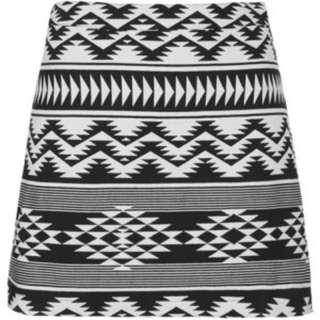 Topshop Aztec Print Skirt