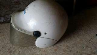 Vintage Yamaha bike helmet