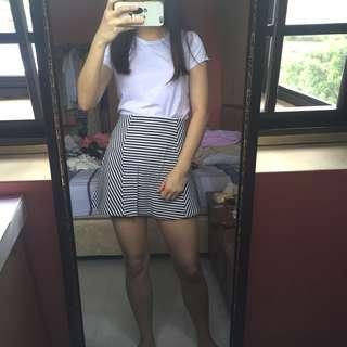 Forever 21 stripe mini skirt