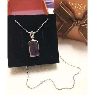 🚚 紫水晶鋯石項鍊 紫晶原石招財套鍊 招人緣 姻緣 桃花 防小人 聚財 化煞