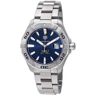 🚚 Tag Heuer Aquaracer Automatic Blue Dial Men's Watch WAY2012.BA0927