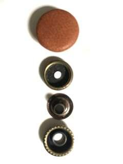 🚚 Leather covered snap button 16mm