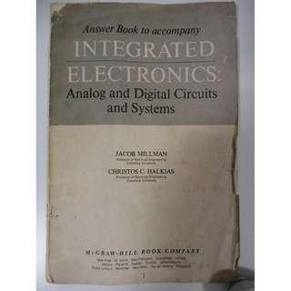 Answer book to Integrated Electronics: analog & digital Circuits and Systems