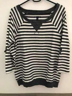 🚚 Grey Striped Sweater / Pullover