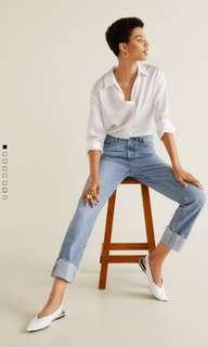 Mango Cuffed Hem Relaxed Jeans
