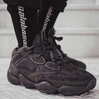 (In Stock) US8 Adidas Yeezy Boost 500 Utility Black