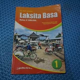 Laksita Basa Kelas X SMA/MA, penulis: Dra. Warih Jatirahayu