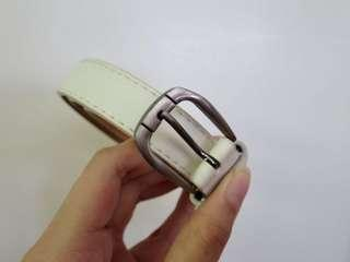 White Belt with Silver Buckle
